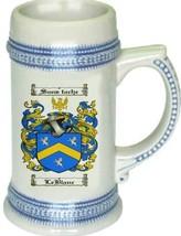 Leblanc Coat of Arms Stein / Family Crest Tankard Mug - $21.99