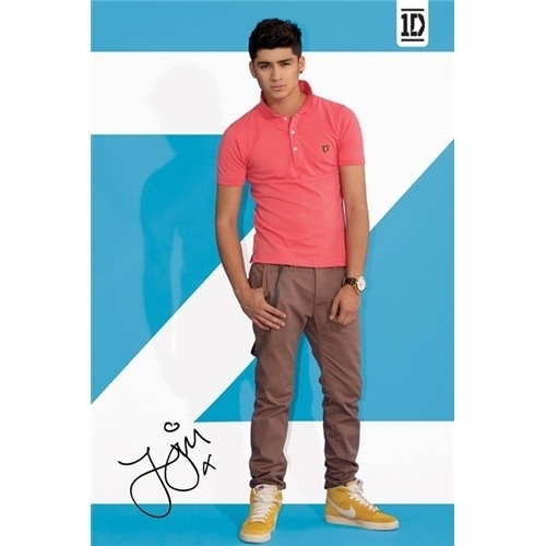 One Direction Zayn 1D Official Poster Printed Signature 61 x 91.5 cm New