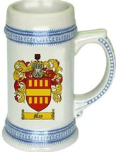 May Coat of Arms Stein / Family Crest Tankard Mug - $21.99