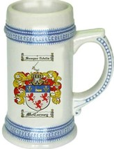 Mccarney Coat of Arms Stein / Family Crest Tankard Mug - $21.99