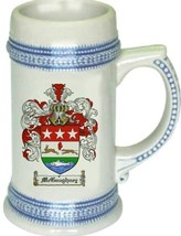 Mcgaughney Coat of Arms Stein / Family Crest Tankard Mug - $21.99