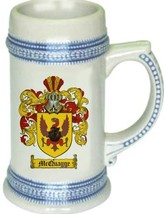 Mcquagge Coat of Arms Stein / Family Crest Tankard Mug - $21.99