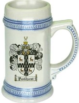 Pankhurst Coat of Arms Stein / Family Crest Tankard Mug - $21.99