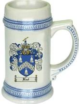 Rud Coat of Arms Stein / Family Crest Tankard Mug - $21.99