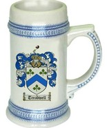Treadwell Coat of Arms Stein / Family Crest Tankard Mug - $21.99