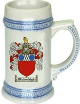 Walmsleigh Coat of Arms Stein / Family Crest Tankard Mug - $21.99