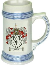 Wikes Coat of Arms Stein / Family Crest Tankard Mug - $21.99