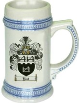 Yeat Coat of Arms Stein / Family Crest Tankard Mug - $21.99