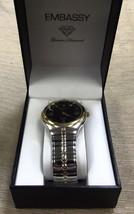 Embassy Men's Genuine Diamond Two Tone Quartz Watch #0047251962 UPC:0493... - $28.71