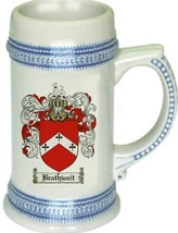 Brathwait Coat of Arms Stein / Family Crest Tankard Mug - $21.99
