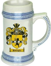Battaglia Coat of Arms Stein / Family Crest Tankard Mug - $21.99