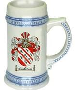 Castaneda Coat of Arms Stein / Family Crest Tankard Mug - $21.99