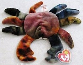 Ty Teenie B EAN Ie Babies 1999 Mc Donald's Happy Meal Claude The Crab Retired Mwmt - $6.48