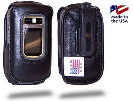 Turtleback Fitted Case made for Motorola i680 Brute Phone Black Leather ... - $29.99