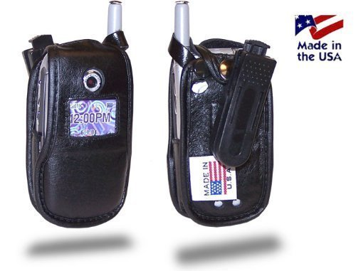 Turtleback Fitted Case Made for Motorola V710, E815 E816 Phone Black Leather Rot