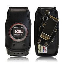 Turtleback Fitted Case made for Casio GzOne Ravine 2 Phone Black Leather... - $29.99