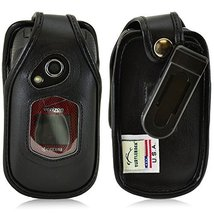 Turtleback Fitted Case for Kyocera DuraXV Flip Phone Black Leather Rotat... - $36.99