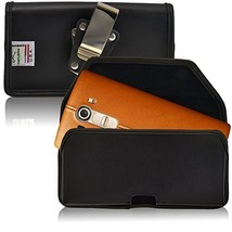 Turtleback Belt Case Compatible with LG G4 Black Holster Leather Pouch w... - $36.99