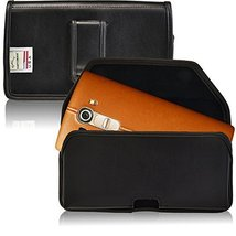 Turtleback Holster Made for LG G4 Black Belt Case Leather Pouch with Exe... - $36.99