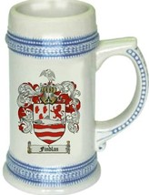 Findlan Coat of Arms Stein / Family Crest Tankard Mug - $21.99