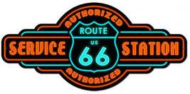 Route 66 Service Station Plasma Cut Metal Sign - $34.95