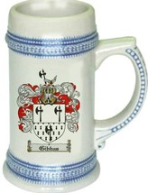 Gibbas Coat of Arms Stein / Family Crest Tankard Mug - $21.99