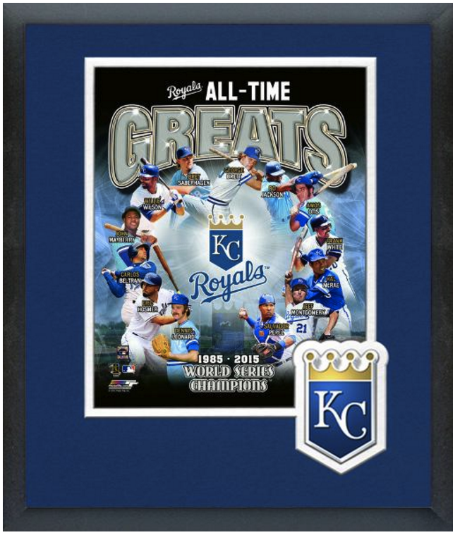 Kansas City Royals All-Time Great Players Photo Montage-11 x 14 Framed & Matted