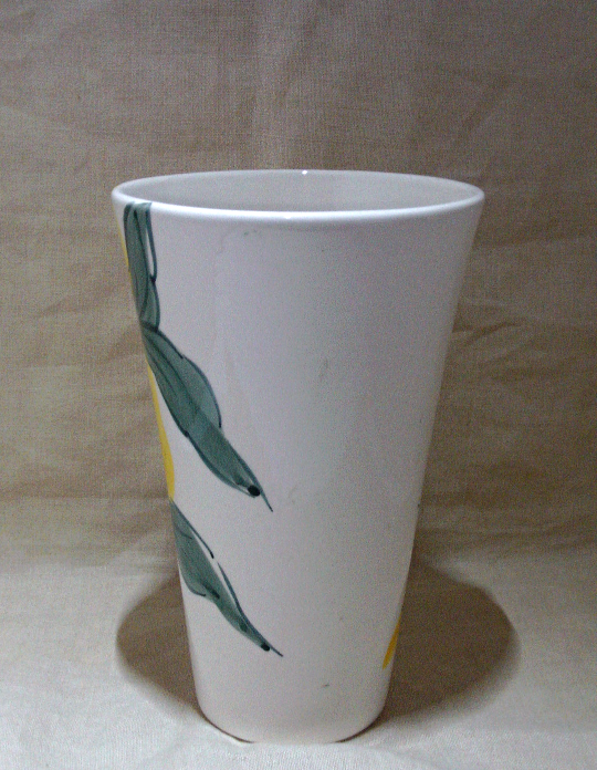 Vintage Hand Painted JOMAZE Floral Vase Made in Portugal // Large Flower Vase