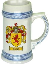 Griffith Coat of Arms Stein / Family Crest Tankard Mug - $21.99