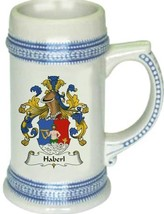 Haberl Coat of Arms Stein / Family Crest Tankard Mug - $21.99