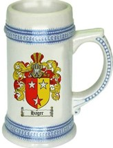 Hager Coat of Arms Stein / Family Crest Tankard Mug - $21.99