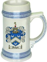 Halyak Coat of Arms Stein / Family Crest Tankard Mug - $21.99