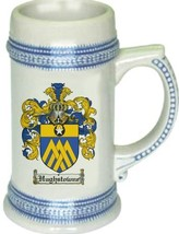 Hughstowne Coat of Arms Stein / Family Crest Tankard Mug - $21.99