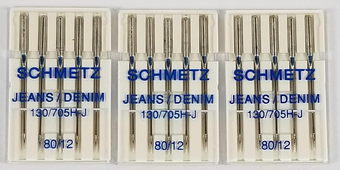 Schmetz Denim  Jeans Machine Needles Size 80/12 - $9.30