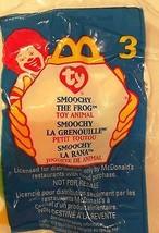 Ty Teenie B EAN Ie Babies 1999 Mc Donald's Happy Meal Smoochy The Frog Retired Mwmt - $5.40