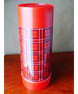 Retro Plaid Aladdin Giant Red Thermos - One Quart (Wide Mouth) - $15.99