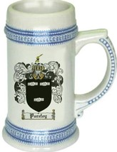 Purefoy Coat of Arms Stein / Family Crest Tankard Mug - $21.99