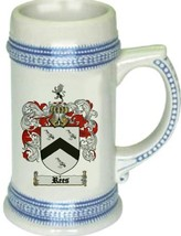 Rees Coat of Arms Stein / Family Crest Tankard Mug - $21.99