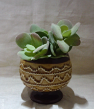 Vintage Brown Mid Century Pedestal Planter // Pottery Planter // Vintage... - $12.00