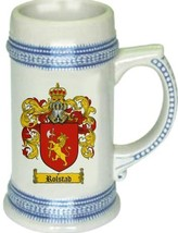 Rolstad Coat of Arms Stein / Family Crest Tankard Mug - $21.99
