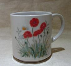 Vintage Porcelain POPPY Coffee Mug Made in Japan - $6.00