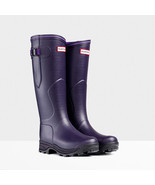 HUNTER BALMORAL LADY EQUESTRIAN DARK IRIS WELLINGTON BOOTS Green Welly SZ 9 - £99.64 GBP