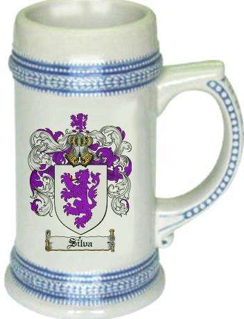 Silvapr Coat of Arms Stein / Family Crest Tankard Mug