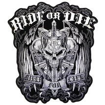"RIDE OR DIE ""BIKER FOR LIFE"" MILITARY VET/BIKER PATCH - $10.99"