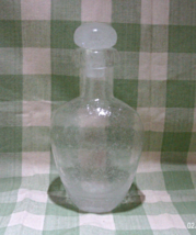 Vintage Mouth Blown Art Glass Seed Bubble Glass Decanter with Stopper - $16.00