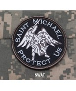 SAINT MICHAEL PROTECT US - SWAT - TACTICAL BADGE MORALE VELCRO MILITARY ... - $8.99