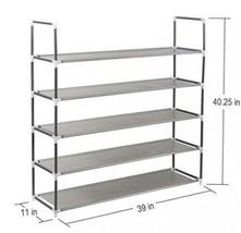 Shelf Organizer Shoe Rack 5 Tier Storage Stand Tower Furniture Spacious & Sturdy - $47.00