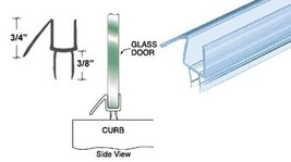"""CRL Co-Extruded Clear Bottom Wipe with Drip Rail for 3/8"""" Glass - 36 in ... - $12.82"""