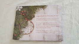 """4"""" ORNATE CHRISTMAS DREAMCATCHER PACKAGE TORN, CANDY CANE EDGE - $4.94"""