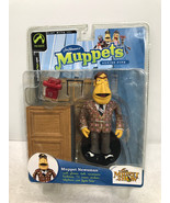 "Muppets Muppet Newsman 5"" Figure Series 5 - Palisades Toys 2003 FS - $19.34"